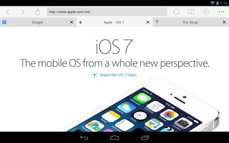 iOS 7 Browser 1.6 Download the web browser application for iOS 7