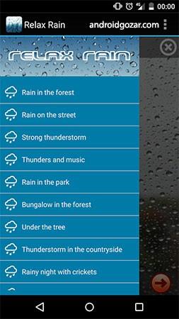 دانلود Relax Rain Premium 5.6.0 – برنامه صداهای طبیعت اندروید
