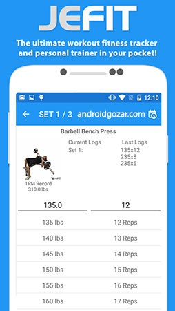 JEFIT Pro Workout Tracker Gym Log 9.11 دانلود نرم افزار بدنسازی