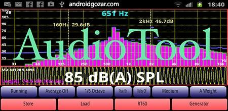 AudioTool 7.3.1 دانلود نرم افزار اندازه گیر سطح شدت صدا با اندروید