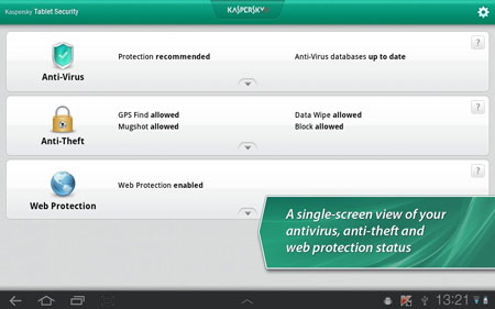 Kaspersky Tablet Security 9.14.21 Download tablet security software