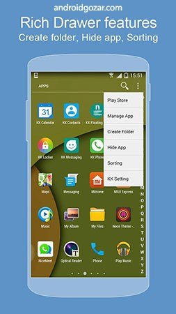 KK Launcher Prime 7.6 دانلود لانچر اندروید 7.1 نوقا