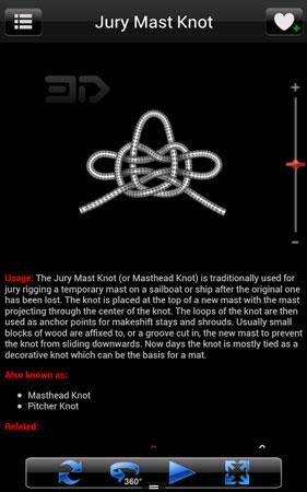 دانلود Knots 3D 7.0.3 برنامه آموزش سه بعدی گره زدن اندروید