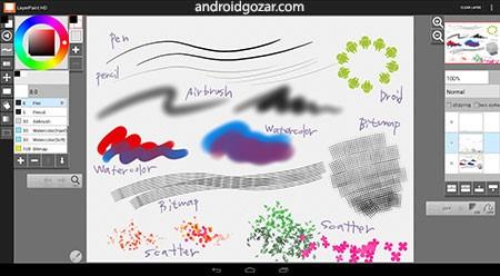 LayerPaint HD 1.9.20 دانلود برنامه نقاشی برای تبلت اندروید