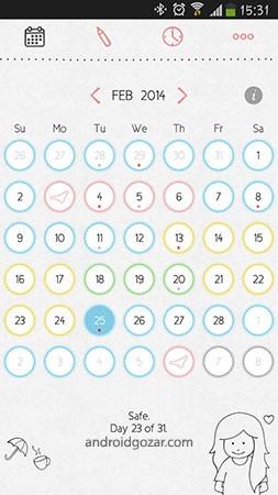 LoveCycles Period Tracker Premium 3.4.9 دانلود نرم افزار تقویم چرخه قاعدگی