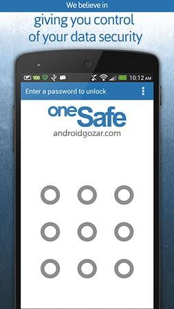 oneSafe   password manager 2.0.3 دانلود نرم افزار مدیریت رمز عبور