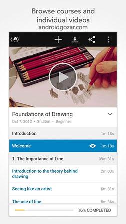 lynda.com 2.4.3 دانلود نرم افزار مشاهده فیلم های آموزشی لیندا