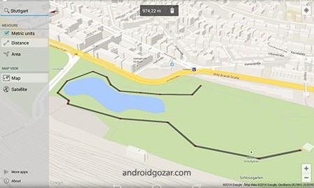 Maps Measure 1.1.7 دانلود نرم افزار اندازه گیری نقشه ها