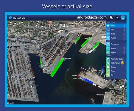 MarineTraffic ship positions 3.5.2 Patched دانلود نرم افزار مشاهده موقعیت کشتی ها