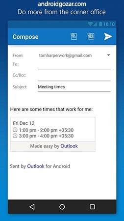 دانلود Microsoft Outlook 4.0.65 – برنامه آوت لوک مایکروسافت اندروید
