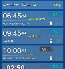Alarm Plus Millenium 5.4 دانلود نرم افزار زنگ هشدار و یادآور اندروید