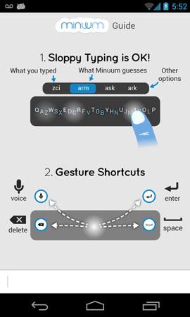 Minuum Keyboard 3.5.2 دانلود صفحه کلید کوچک و دقیق اندروید