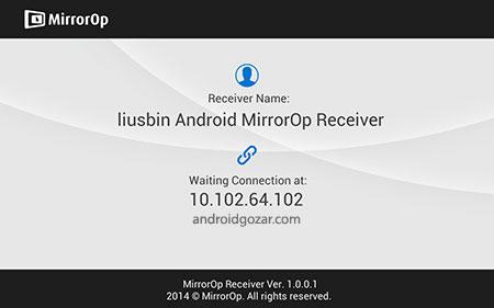 MirrorOp Receiver FULL 1.0.0.6 Unlocked دانلود نرم افزار گیرنده MirrorOp