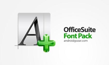 OfficeSuite Font Pack 1.1.5 دانلود بسته فونت OfficeSuite