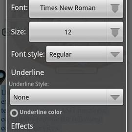 OfficeSuite Font Pack 1.1.9 دانلود بسته فونت OfficeSuite