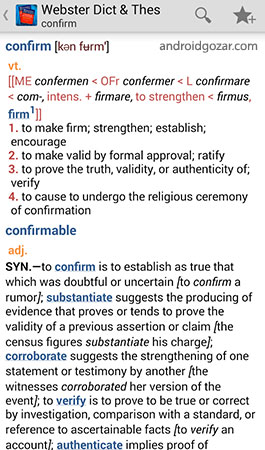 Websters Dictionary+Thesaurus Premium 9.1.344 دانلود دیکشنری و اصطلاح نامه وبستر