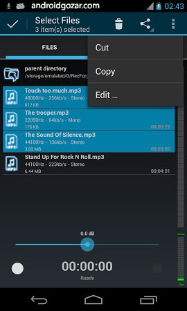 RecForge II Pro Audio Recorder 1.2.8.1g دانلود برنامه ضبط و ویرایش صدا اندروید