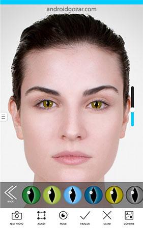 Eye Color Studio Premium 2.4 دانلود استودیو حرفه ای تغییر رنگ چشم اندروید