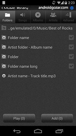 NRG Player music player FULL 2.3.7 موزیک پلیر قوی و زیبا اندروید