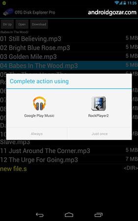 OTG Disk Explorer Pro 3.02 دانلود نرم افزار خواندن USB اندروید