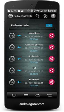 Call Recorder One Touch Full 5.9 Patched دانلود نرم افزار ضبط مکالمات با یک لمس