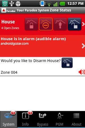 iParadox – Alarm Control 1.2.9 دانلود نرم افزار کنترل سیستم امنیتی از راه دور