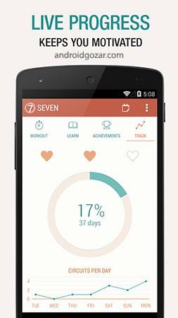 Seven – 7 Minute Workout Pro 8.2.7 دانلود برنامه تمرینات ورزشی 7 دقیقه