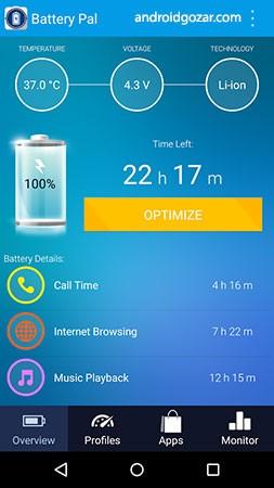 Battery Pal (2X Saver) Premium 1.6 دانلود نرم افزار رفیق باتری