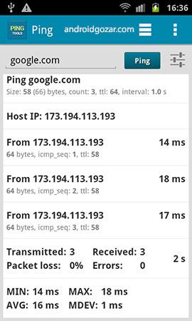 دانلود PingTools Pro 4.52 برنامه قدرتمند ابزار شبکه اندروید