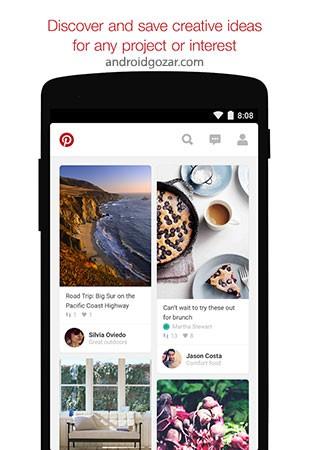 دانلود Pinterest 8.37.0 برنامه پینترست برای اندروید + مود