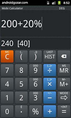 Mobi Calculator PRO 1.4.0 دانلود نرم افزار ماشین حساب اندروید