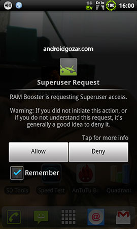 RAM Booster Donate (root) 4.6.1 Patched دانلود نرم افزار تقویت رم