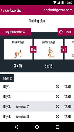 Runtastic Butt Trainer Workout Pro 1.8 مربی تمرینات باسن اندروید