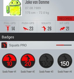 Runtastic Squats Workout PRO 1.13 تمرین تقویت پاها و باسن
