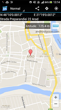 Map Coordinates Pro 4.8.20 تعیین مختصات و آدرس روی نقشه