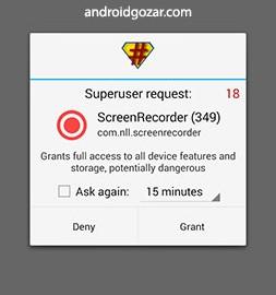 Screen Recorder Pro 10.2 گرفتن عکس و فیلم از صفحه نمایش اندروید