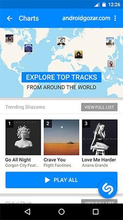 دانلود Shazam Encore 10.2.0-191010 برنامه شازم شناسایی آهنگ اندروید