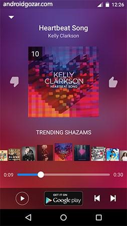 Shazam Encore 9.40.0-190712 دانلود برنامه شازم شناسایی آهنگ برای اندروید