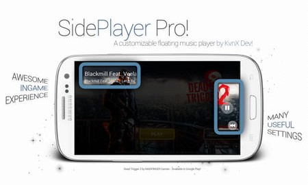 SidePlayer Pro 1.00.58 دانلود نرم افزار موزیک پلیر بازی