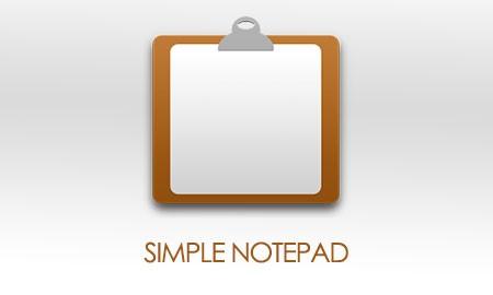 Simple Notepad 1.8.3 دانلود نرم افزار دفترچه یادداشت