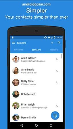 Simpler Contacts & Dialer Pro 8.4 دانلود شماره گیر و مدیریت مخاطبین