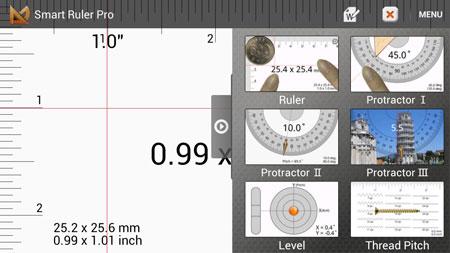 Smart Ruler Pro 2.6.8 دانلود نرم افزار خط کش، نقاله، تراز سنج اندروید