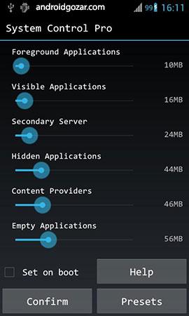 System Control Pro 2.0.5 دانلود نرم افزار کنترل سیستم اندروید