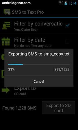 SMS to Text Pro 1.9.3 Patched دانلود نرم افزار پشتیبان گیری از پیامک ها