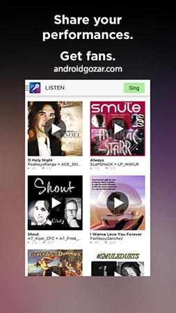 دانلود Smule – The Social Singing App VIP 7.9.5 خوانندگی و هم خوانی اندروید