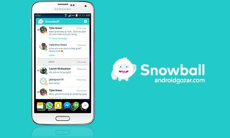 Snowball 2.1.1 دانلود نرم افزار نمایش تمام پیام های برنامه های اجتماعی در یک مکان