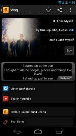 دانلود SoundHound ∞ Music Search 9.3.5 برنامه شناسایی آهنگ اندروید