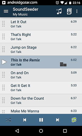 SoundSeeder Music Player Premium 2.0.1 دانلود نرم افزار سیستم صوتی بی سیم