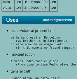 Spanish Verbs Pro 14147 دانلود نرم افزار آموزش افعال اسپانیایی