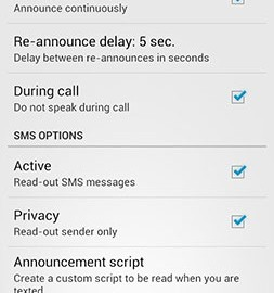 Call & SMS Announcer – Spkr Premium 2.6 اعلام نام تماس گیرنده